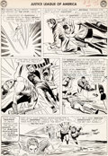 Original Comic Art:Panel Pages, Mike Sekowsky and Bernard Sachs Justice League of America#18 Story Page 21 Batman, Flash, and Others Original Art...