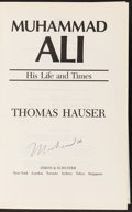 Boxing Collectibles:Autographs, Muhammad Ali Signed His Life and Times Hardcover Book....