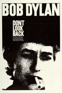 "Don't Look Back (Leacock-Pennebaker, 1967). One Sheet (27"" X 41""). From the collection of David Frangioni, aut..."