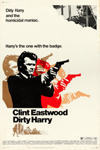 "Dirty Harry (Warner Brothers, 1971). Poster (40"" X 60""). From the collection of David Frangioni, author of Cli..."