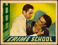 """Crime School (Warner Brothers, 1938). Linen Finish Lobby Card (11"""" X 14"""") From the Warner Media Archive"""