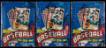 Baseball Cards:Unopened Packs/Display Boxes, 1984 Topps Baseball Wax Box Trio (3) Each With 36 Unopened Packs....