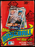 Baseball Cards:Unopened Packs/Display Boxes, 1985 Topps Baseball Wax Box With 36 Unopened Packs....