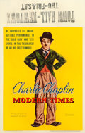 "Movie Posters:Comedy, Modern Times (United Artists, 1936). Window Card (14"" X 22"").. ..."