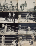 Boxing Cards:General, 1920's Exhibit Dempsey & Tunney Fight Scenes (16) With Dempsey Vs. Tunney Partial Set. . ...