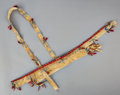 American Indian Art:Beadwork and Quillwork, A Sioux Beaded Hide Bow Case and Quiver...