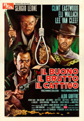 "Movie Posters:Western, The Good, the Bad and the Ugly (PEA., R-1969). Italian 4 - Fogli (54.5"" X 78""). From the collection of David Frangioni, au..."