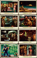 "Movie Posters:Science Fiction, Forbidden Planet (MGM, 1956). Lobby Card Set of 8 (11"" X 14"").. ... (Total: 8 Items)"