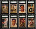 Baseball Cards:Lots, 1957 Topps Baseball Stars & HoFers SGC Graded Collection(8)....