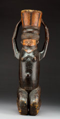 Tribal Art, A Fine Old Kneeling Female Figure, Chokwe Complex, CentralAfrica...
