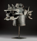 "Tribal Art, A Superb, Classic ""Fire Spitter"" Helmet Mask, Senufo People, IvoryCoast..."