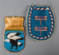 American Indian Art:Beadwork and Quillwork, Two Plains/Plateau Beaded Hide Pouches... (Total: 2 Items)