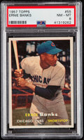Baseball Cards:Singles (1950-1959), 1957 Topps Ernie Banks #55 PSA NM-MT 8....