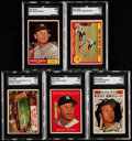Baseball Cards:Lots, 1961 Topps Mickey Mantle SGC Graded Collection (5)....