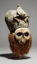 Tribal Art, A Superb Large Mask Related to the Circumcision and Coming of AgeRitual for Young Males...