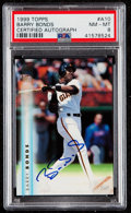 Baseball Cards:Singles (1970-Now), 1999 Topps Autograph Barry Bonds #A10 PSA NM-MT 8....