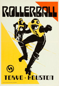 """Rollerball (United Artists, 1975). Match Poster (20.25"""" X 29.5"""") Advance, Bob Peak Artwork. From the collectio..."""