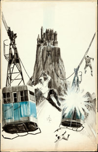 """Where Eagles Dare by Frank McCarthy (MGM, 1968). Original Mixed Media Concept Artwork on Illustration Board (17.5""""..."""