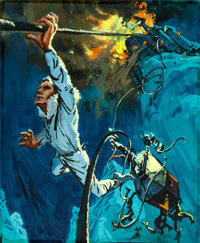 """Where Eagles Dare by Frank McCarthy (MGM, 1968). Original Acrylic Concept Artwork on Acetate (13.5"""" X 16.5"""")..."""