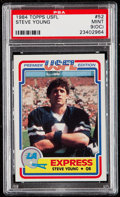 Football Cards:Singles (1970-Now), 1984 Topps Steve Young #52 PSA Mint 9 (OC)....