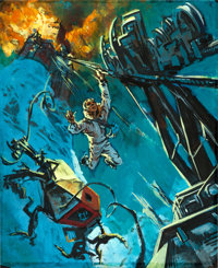 """Where Eagles Dare by Frank McCarthy (MGM, 1968). Original Acrylic Concept Artwork on Acetate (13.75"""" x 16.75"""")..."""