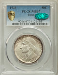 Commemorative Silver, 1936 50C Boone MS67 PCGS Secure. CAC. PCGS Population: (91/5 and 1/0+). NGC Census: (51/3 and 1/0+). CDN: $500 Whsle. Bid f...