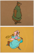 Animation Art:Color Model, Robin Hood Little John and Maid Marian Color Model CelsGroup of 2 (Walt Disney, 1973).... (Total: 2 Items)