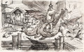 Animation Art:Production Drawing, Pete's Dragon Elliot and Pete Storyboard Original Art (WaltDisney, 1977)....