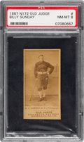 Baseball Cards:Singles (Pre-1930), 1887-90 N172 Old Judge Billy Sunday (#446-5 Pittsburgh) PSA NM-MT 8....