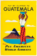"Movie Posters:Miscellaneous, Guatemala (Pan American World Airways, 1950s). Travel Poster(28.25"" X 42"").. ..."