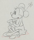 Animation Art:Production Drawing, Mickey's Rival Minnie Mouse Producti...