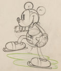 Animation Art:Production Drawing, On Ice Mickey Mouse Animation Drawing (Walt Disney, 1935). ...
