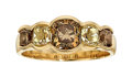 Estate Jewelry:Rings, Gentleman's Fancy Light Yellow Diamond, Colored Diamond, Gold Ring....
