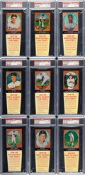 Baseball Cards:Lots, 1958 Hires Root Beer (With tabs) PSA NM-MT 8 Collection (9)....