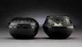 American Indian Art:Pottery, Two San Ildefonso Blackware Vessels . Alfred Aguilar and TonitaRoybal... (Total: 2 Items)