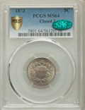 Shield Nickels, 1873 5C Closed 3 MS64 PCGS Secure. CAC....