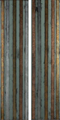 Sculpture:Sculpture, Judy Stabile (b. 1948). Untitled (two vertical panels), 1998. Acrylic and metal leaf on reverse of curved glass. 72-1/8 ... (Total: 2 Items)