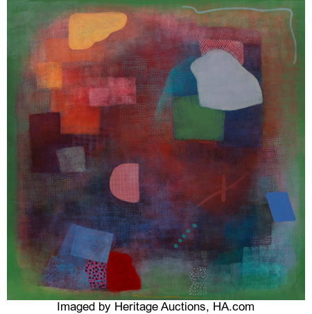 Robert Natkin (1930-2010) Bern Series, 1982 Acrylic on canvas 71 x 71 inches (180.3 x 180.3 cm) Signed lower center:...