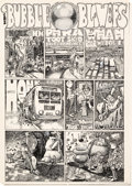 Original Comic Art:Complete Story, Fred Schrier Mother's Oats Comix #2 Complete 3-Page StoryOriginal Art (Rip Off Press, 1971).... (Total: 3 Original Art)