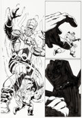 Original Comic Art:Panel Pages, Jim Starlin and Al Milgrom Thanos