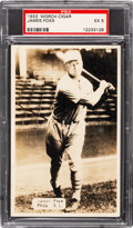 Baseball Cards:Singles (1930-1939), 1933 Worch Cigar James Foxx PSA EX 5 - None Higher....