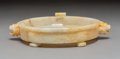 Asian:Chinese, A Chinese Archaistic-Style Carved Jade Censer, Qin...