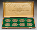 Decorative Arts, Continental:Other , An Anders Nyborg Commemorative Hans Christian Anderson Boxed BronzeMedallion Set, designed by Harald Salomon, circa 1975. M...