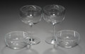 Decorative Arts, French:Other , Fifteen Baccarat Crystal Red Wine Glasses with Seven BaccaratCrystal Finger Bowls, Baccarat, France, 20th century . Marks: ...(Total: 21 Items)