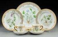 A Thirty-Two-Piece Royal Copenhagen Flora Danica Pattern Porcelain Table Service for Eight</