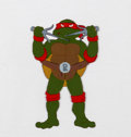 Animation Art:Production Cel, Teenage Mutant Ninja Turtles Raphael Production Cel (Murakami-Wolf-Swenson, c. 1987)....