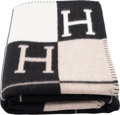 "Luxury Accessories:Home, Hermès Ecru & Black Avalon Blanket. Condition: 1. 53"" Width x 67"" Length. ..."