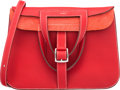 "Luxury Accessories:Bags, Hermès 31cm Rouge Casaque Clemence Leather Halzan Bag with Palladium Hardware. R Square, 2014. Condition: 2. 12"" W..."