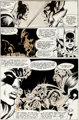 Neal Adams and Dick Giordano Power Records PR-30 Batman: Robin Meets Man-Bat! Partial Stat Page 14 Ori