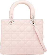 cf1685748e09 Christian Dior Light Pink Cannage Quilted Lambskin Leather Medium ...